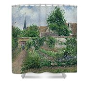 Kitchen Garden, Overcast Morning, Eragny, 1891  Shower Curtain