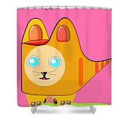 Kitten Footprints Shower Curtain