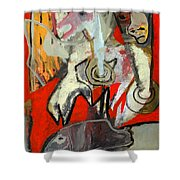 Knight And Fish Shower Curtain