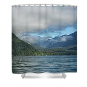 Knight Inlet Shower Curtain by Randy Hall