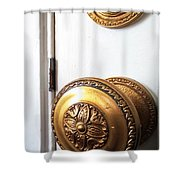 Knob And Lock Shower Curtain