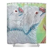 Koala With Baby - Pastel Wildlife Painting Shower Curtain