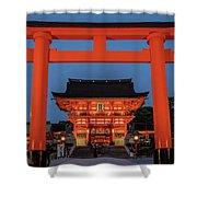 Kyoto Torii Gate Shower Curtain