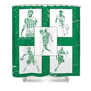 Kyrie Irving Boston Celtics Panel Pixel Art 1 Shower Curtain