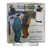 L Escarmouche, 1893 French Vintage Poster Shower Curtain