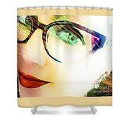 La Va Rache  Shower Curtain by Rachel Maynard