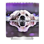 Labrador Swimming Shower Curtain