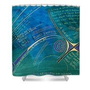 Labyrinth Of Words Shower Curtain