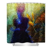 Lady In The Garden Shower Curtain