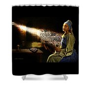 Lady In Waiting Shower Curtain