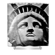 Lady Liberty In Black And White1 Shower Curtain