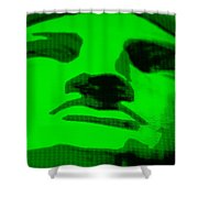 Lady Liberty In Green Shower Curtain