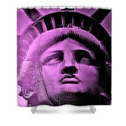 Lady Liberty In Pink Shower Curtain