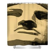 Lady Liberty In Sepia Shower Curtain