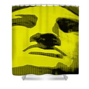 Lady Liberty In Yellow Shower Curtain
