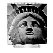 Lady Liberty Red White And Blue Shower Curtain