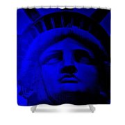 Lady Libery In Blue Shower Curtain