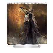 Lady Of The Lake Shower Curtain