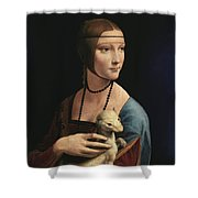 Lady With An Ermine, 1489 Shower Curtain