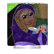 Lady With Child Shower Curtain