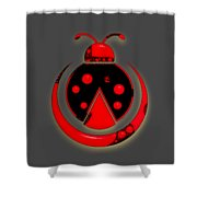 Ladybug Collection Shower Curtain