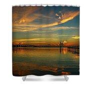 Lagoon Sunbeam Sunrise Shower Curtain