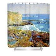 Laguna Rocks Low Tide 1916 Shower Curtain