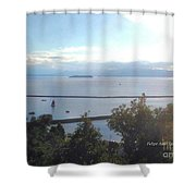 Lake Champlain Early Afternoon Sunshine Enhanced Shower Curtain