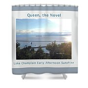 Lake Champlain Early Afternoon Sunshine Enhanced Poster Shower Curtain