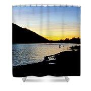 Lake Cuyamaca Sunset Shower Curtain