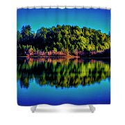 Lake Double Reflection Shower Curtain