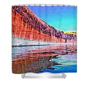 Lake Powell With Cliff Reflections Shower Curtain