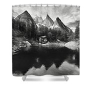 Lake Verde In The Alps IIi Shower Curtain