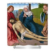 Lamentation Over The Body Of Christ Shower Curtain