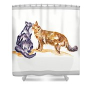 L'amour - Cats In Love Shower Curtain