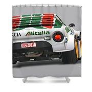 Lancia Stratos Rear Shower Curtain
