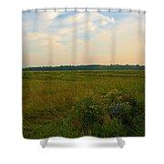 Salt March Landscape  Shower Curtain