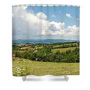 Landscape With Orchards Shower Curtain