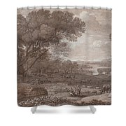 Landscape With The Rest On The F  Shower Curtain