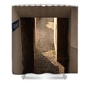 lane in Cochem-Cond in Germany Shower Curtain