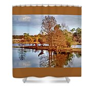Langan Park Island Reflections Shower Curtain