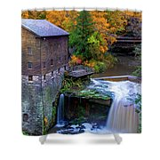 Lanterman's Mill In Fall Shower Curtain