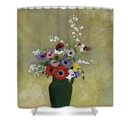Large Green Vase With Mixed Flowers, 1912 Shower Curtain