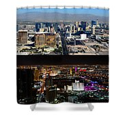Las Vegas Night And Day Work A Shower Curtain