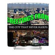 Las Vegas The City That Never Sleeps Custom Pc Shower Curtain