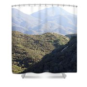 Layers Of A Mt. View Shower Curtain