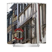 Le Tire Bouchon Winstub Sign Shower Curtain