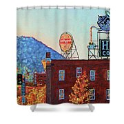Leading Green - Antique Signs Of Roanoke Virginia Shower Curtain