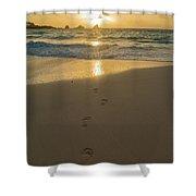 Leading To The Light Coastal Sunrise Shower Curtain