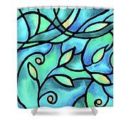 Leaves And Curves Art Nouveau Style II Shower Curtain